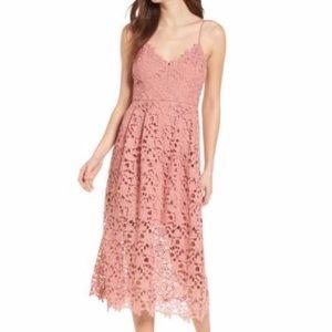 Dark blush lace dress